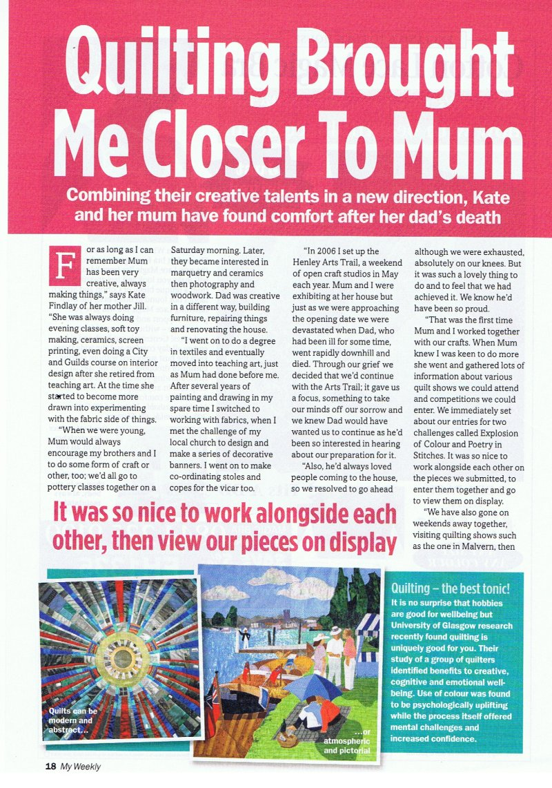 My Weekly article Sept 2011