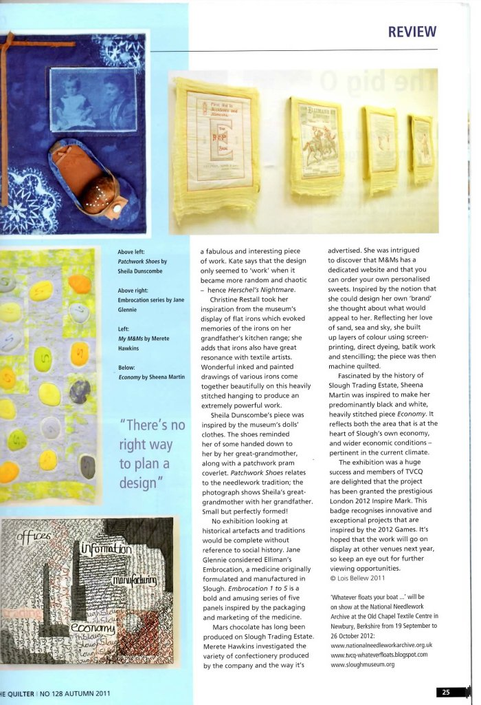The Quilter magazine Autumn 2011