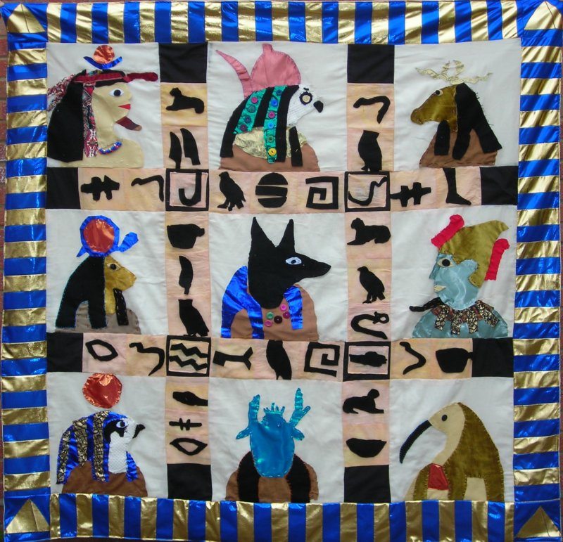Hawkedon School Quilt made by Year 3