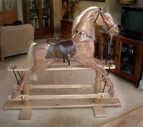 Thoroughbred Rocking Horse by Tim Findlay