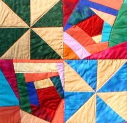 Asymmetric Quilt detail - Jill Findlay